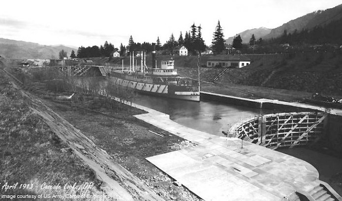 Cascade Locks in 1913